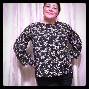 A.n.a long sleeve floral blouse. XL